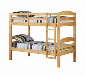We, Furniture, Kids, Solid, Wood, Twin, Over, Twin, Bunk, Bed