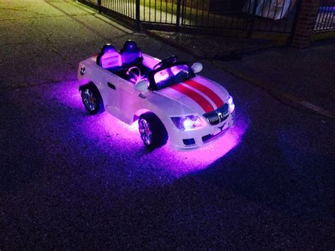black light underglow this battery operated car got a pink led underglow