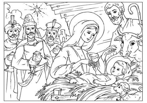 dibujo  colorear nacimiento de cristo img