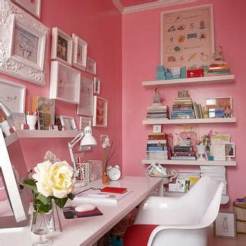 pink home office pink office contemporary den library office habitat and beyond