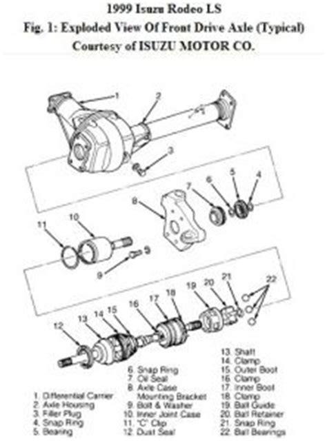 removing side shafts    isuzu rodeo  shafts
