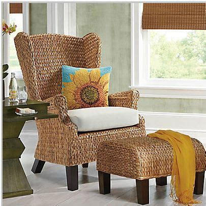 pottery barn seagrass wingback armchair decor look alikes