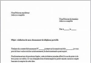 Pret Honneur Caf : t l charger mod le de lettre de r siliation abonnement mobile pour windows freeware ~ Gottalentnigeria.com Avis de Voitures