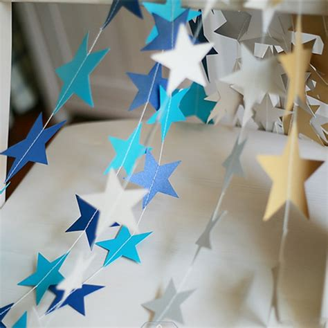 star paper hanging garlands tree christmas