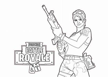 Fortnite Coloring Pages Battle Royale Characters Printable