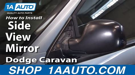 install replace side view mirror dodge caravan