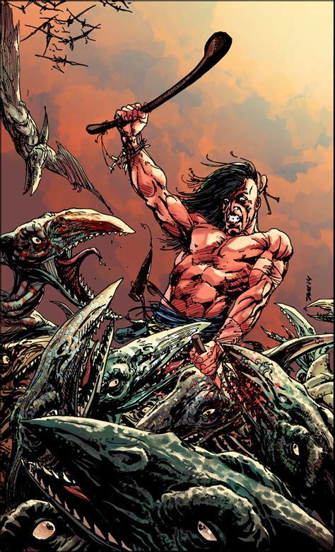 Turokdinosaur Hunter Issue12 Cover By Neerajmenon On