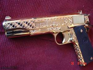 Colt Government 1911 45acp Fully 24k Gold Plated  Master