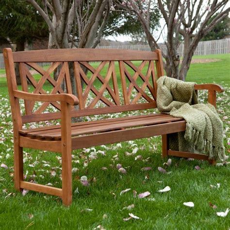 magnolia 5 ft wood garden bench contemporary outdoor