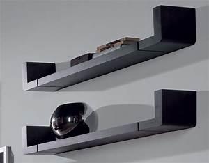 Etagere Pour Tv : tablette murale pour tv maison design ~ Teatrodelosmanantiales.com Idées de Décoration