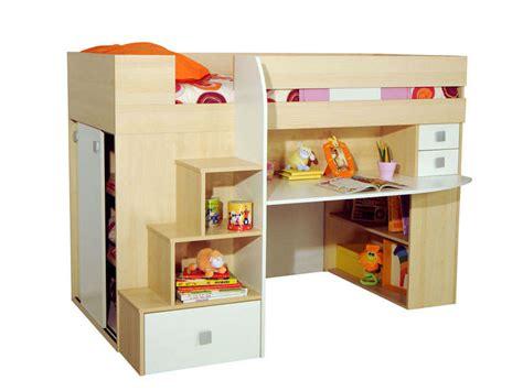 lit 90x190 cm surélevé combiné lit bébé