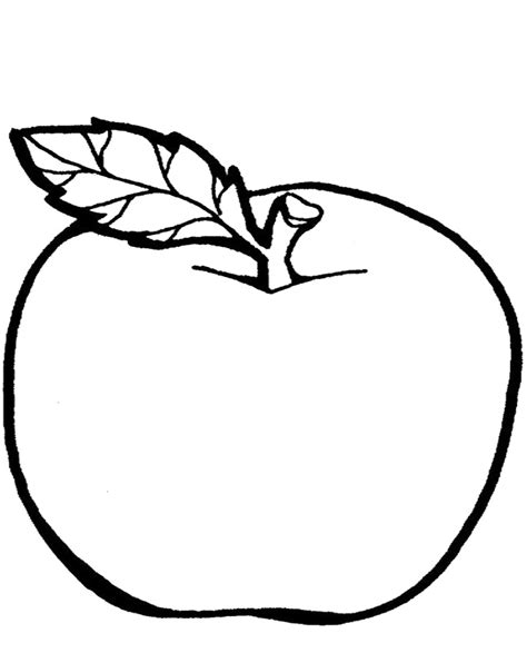 apple coloring pages for preschoolers 360coloringpages 867 | Simple Apple Coloring Page