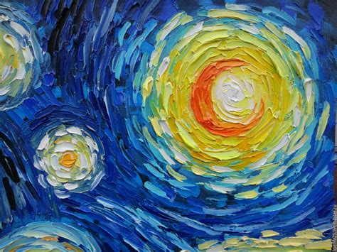 vincent gogh artwork painting with motives of vincent gogh starry