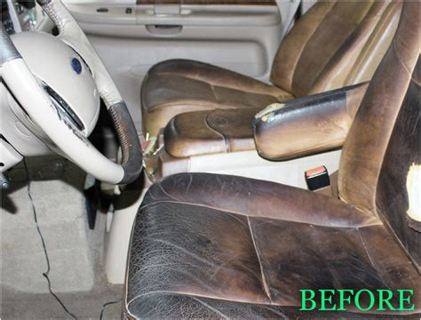 ford   king ranch leather center console lid