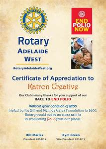 rotary club of adelaide west With rotary club certificate template