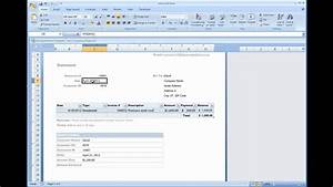 Bill Excel Template Billing Statement Installed Template In Excel 2007 2010