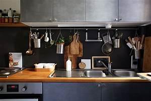 Rangement Ustensile Cuisine : le rangement mural dans la cuisine marie claire ~ Melissatoandfro.com Idées de Décoration