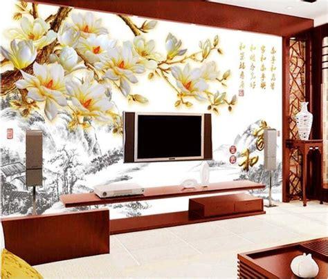 wallpaper custom mural  woven wall sticker magnolia
