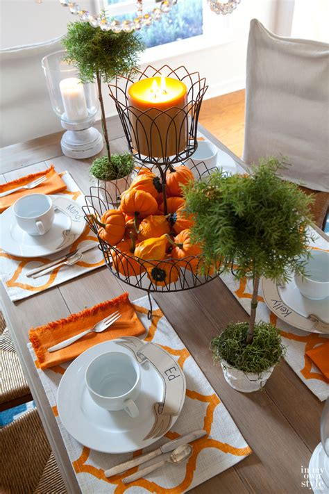 Festive Fall Tables by Create A Festive Fall Table Setting Harmonizing Homes