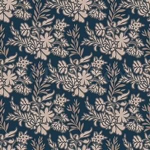 Vintage floral antique background, fashion seamless