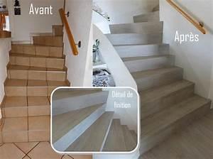 Recouvrir Marche Escalier : recouvrir un escalier en bois avec du lino 20171006022020 ~ Premium-room.com Idées de Décoration