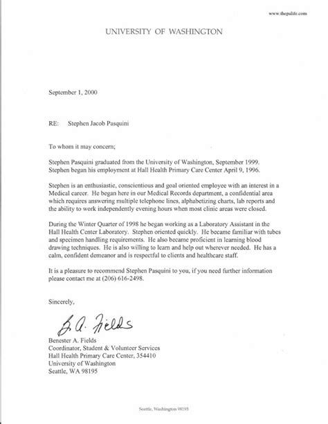 letter of recommendation for school physician assistant school application recommendation 85364