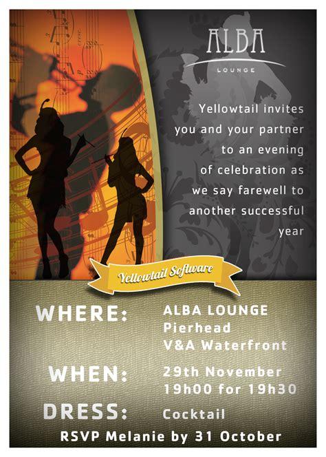 Yellowtail End year function invitation Invitations