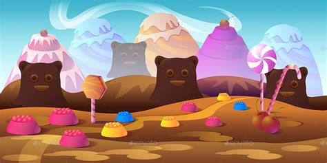 cartoon candy game backgrounds  vitaliyvill graphicriver