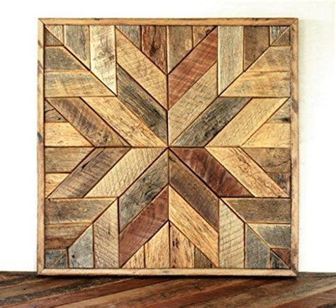 reclaimed wood star quilt block wall art   barn
