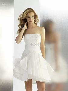 chic strapless sweetheart lace embroidered short tulle With short strapless wedding dresses