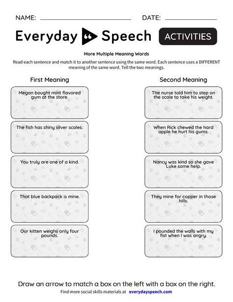 meaning words worksheets kidz activities