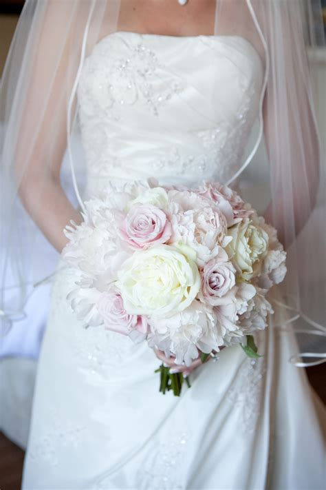 traditional pink white  gold country club wedding