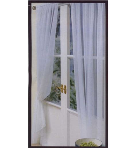 2 x royal blue sheer organza rod pocket curtains ebay