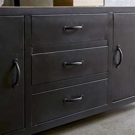 commode pour chambre meuble sous vasque en mtal noir et manguier pour salle de