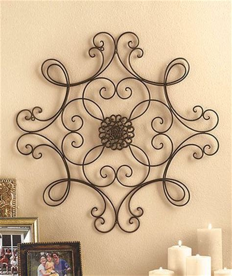 metal wall medallion wrought iron home decor accent scroll the doors
