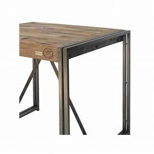 Table Mange Debout Style Industriel : table mange debout 80 cm industry univers du salon tousmesmeubles ~ Melissatoandfro.com Idées de Décoration