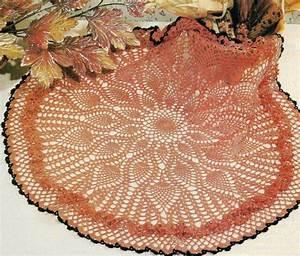 Ruffled Autumn Doily 20 1  2 U0026quot  Diameter Crochet Pattern