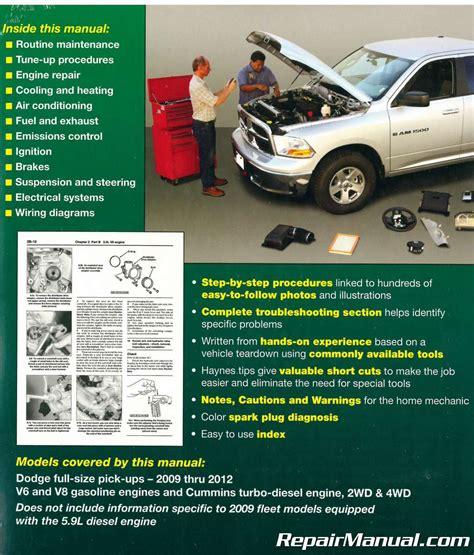 small engine repair manuals free download 1992 dodge ram wagon b250 auto manual 2009 2012 dodge ram pick up truck haynes repair manual