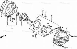 Honda Motorcycle 1982 Oem Parts Diagram For Spark Advancer    Pulse Generator
