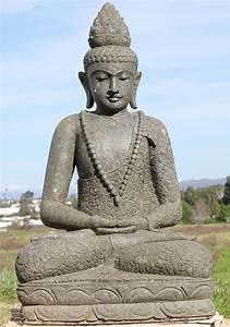 Sold, Stone, Meditating, Buddha, Garden, Statue, 48, U0026quot, 97ls297, Hindu, Gods, U0026, Buddha, Statues