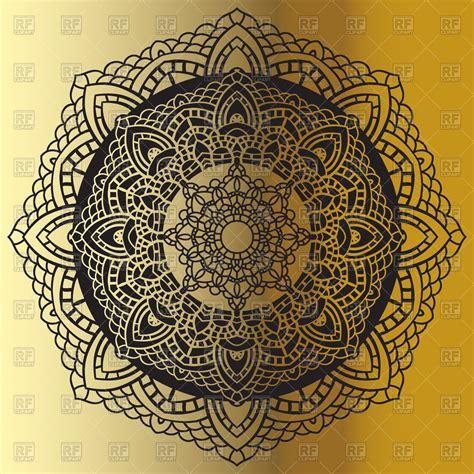 golden mandala background vector image  design elements
