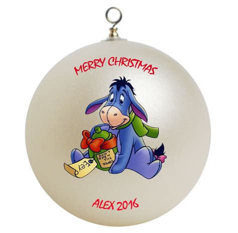 personalized winnie the pooh eeyore christmas ornament