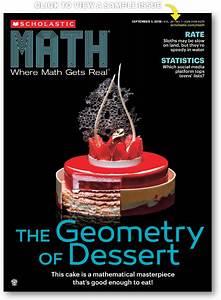 Scholastic MATH   The Real-World Math Magazine (Grades 6-9)