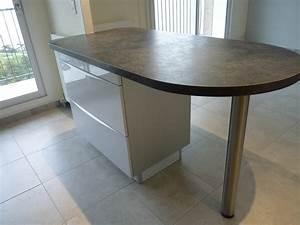 plan cuisine en l avec ilot gallery of agencement cuisine With meuble ilot central cuisine 14 plan de travail pour bar de cuisine pied de table lot de