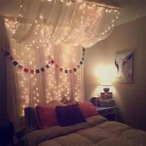 Tumblr Zimmer Lichterketten : full queen bed canopy with lights schlafzimmer schlafzimmer ideen und wohnideen ~ Eleganceandgraceweddings.com Haus und Dekorationen
