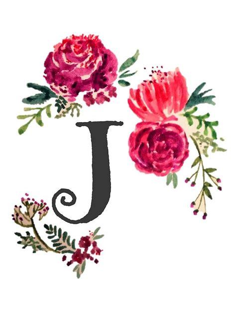 floral monogram watercolor   saraloone watercolor lettering monogram wallpaper floral artwork