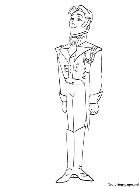 prince hans westergaard coloring pages