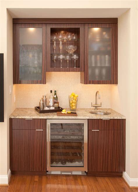 Wet Bar With Sub Zero Wine Storage Cooler  Wine Cellar