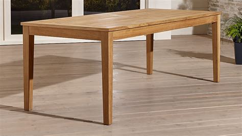 rectangle dining table regatta rectangular teak table crate and barrel 1749