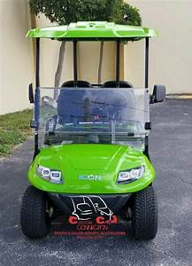 2019 Icon I40 Lime Green Golf Cart 25  Mph
